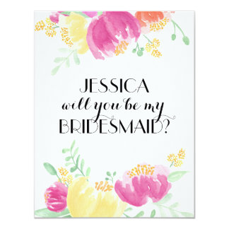 Posy Garden | Bridesmaid Card
