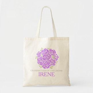 Posy grooms grandmother purple wedding favor bag