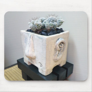 'Pot Head' with Cactus by The Perfect Plant Mouse Pad