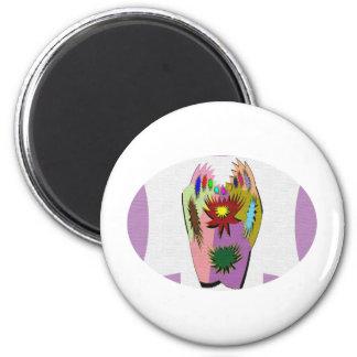 Pot Luck - Poker Hand 6 Cm Round Magnet