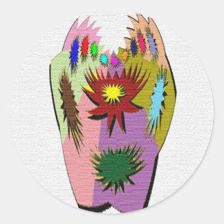 Pot Luck - Poker Hand Round Sticker