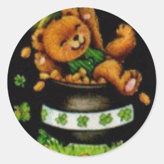 Pot of Bear Round Sticker