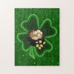 Pot of Gold and Big Shamrock Jigsaw Puzzles