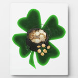 Pot of Gold and Big Shamrock Photo Plaques