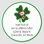 Pot of Gold and Big Shamrock Round Stickers