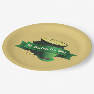 Pot of Gold and Leprechaun Hat Paper Plate