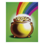 Pot of gold and rainbow print