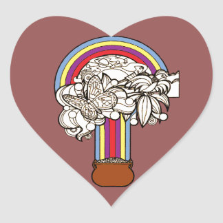 Pot of Gold Heart Sticker