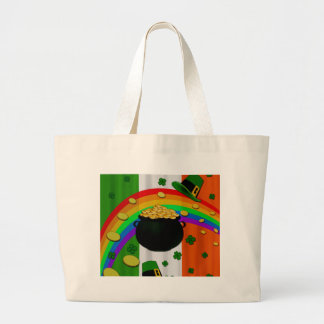 Pot of gold large tote bag
