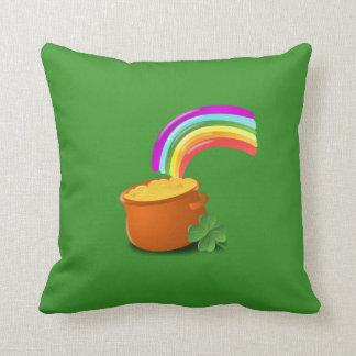Pot of Gold Polyester Throw Pillow