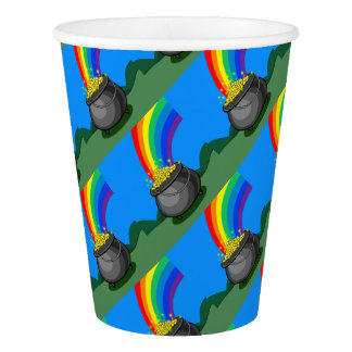 Pot of Gold & Rainbow Paper Cup