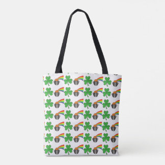 Pot of Gold Rainbow Shamrock St. Paddy's Day Tote