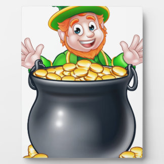 Pot of Gold Saint Patricks Day Leprechaun Display Plaques