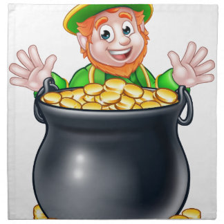 Pot of Gold Saint Patricks Day Leprechaun Napkin