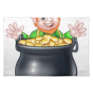 Pot of Gold Saint Patricks Day Leprechaun Placemat