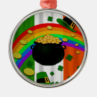 Pot of gold Silver-Colored round decoration
