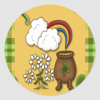 Pot of Gold St Patrick s Day Stickers Seals
