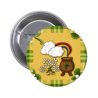 Pot of Gold St. Patrick's Day Pin Button