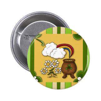 Pot of Gold Stripe St. Patrick's Pin Button