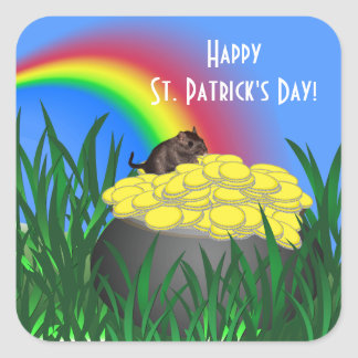 Pot of Gold w/Gerbil - St Patrick's Day Sticker
