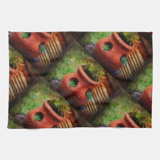 Pot of Plants Earth Colored Blanket Hand Towel