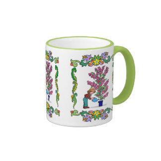 Pot plants can grow very tall ringer mug