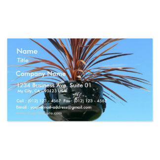 Pot With Red Plant Business Cards