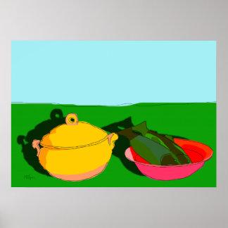 potage fruits de mer poster