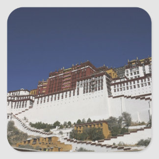 Potal Palace in Lhasa, Tibet. Square Sticker