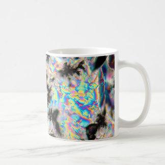 Potassium sulfate under the microscope coffee mug