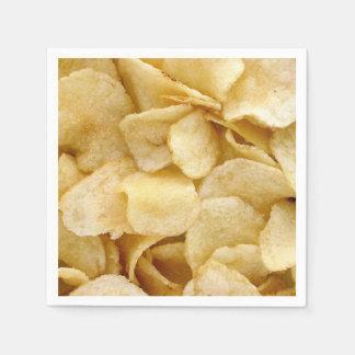 Potato Chip party napkins fun foodie party napkins Disposable Napkins
