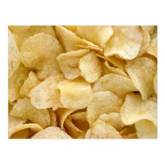 Potato chips junk food gifts postcard
