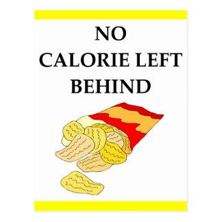 potato chips postcard