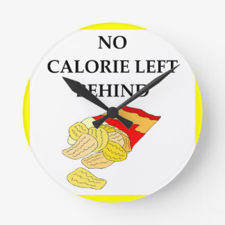 potato chips round clock