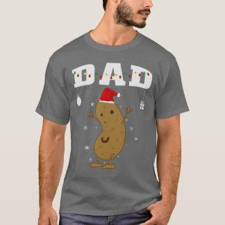 Potato Dad Santa Christmas Pajama Family Matching T-Shirt
