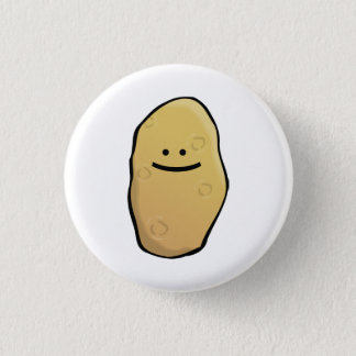 Potato Emoticon 3 Cm Round Badge