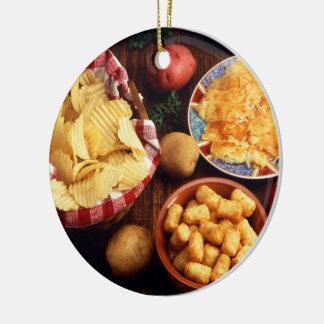 Potato Foods Ceramic Ornament