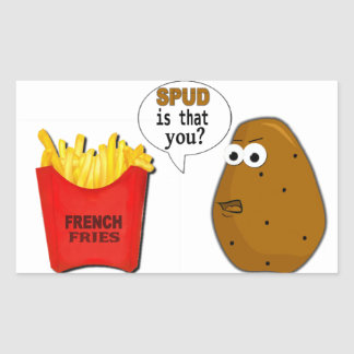 Potato French Fries is that you? Rectangular Sticker