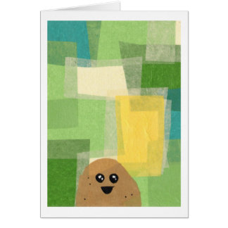 Potato greeting card