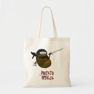 potato ninja tote bag