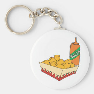 potato tater tots with salsa key ring