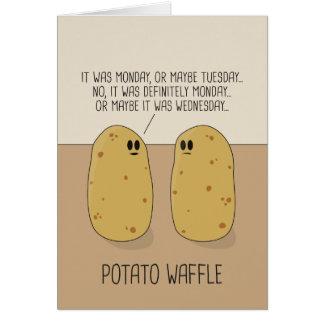 Potato Waffle Greeting Card