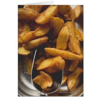 Potato wedges with salt (detail) card