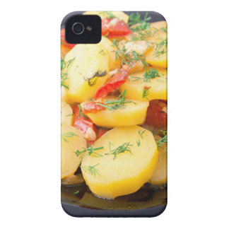 Potatoes with onion, bell pepper and fennel Case-Mate iPhone 4 cases