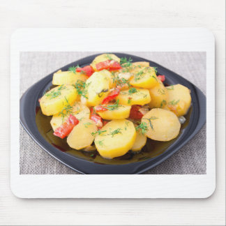 Potatoes with onion, bell pepper and fennel mouse pad