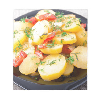 Potatoes with onion, bell pepper and fennel notepad