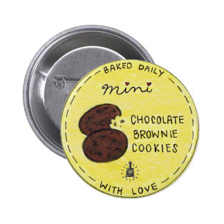 Potbelly NEW Mini Chocolate Brownie Cookie bag tag 6 Cm Round Badge