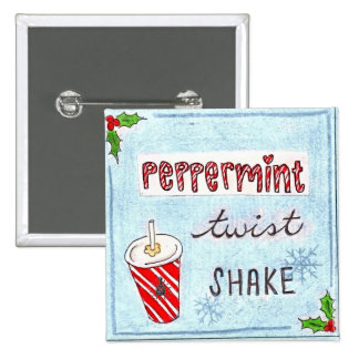 Potbelly NEW Peppermint Twist Shake bag tag Pinback Button