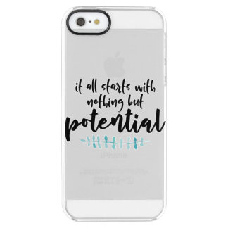 Potential Quote Clear iPhone SE/5/5s Case