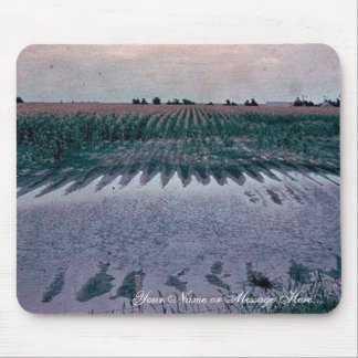 Pothole in cornfield proposed to be drained mouse pad